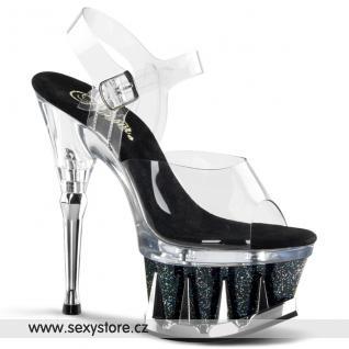 Sexy taneční strip erotická obuv na podpatku a platfromě SPIKY-608MG/C/BG