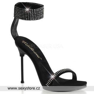 CHIC-40/B/NB Černé sandálky na podpatku