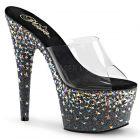 Luxusní sexy pantofle STARSPLASH-701/C/B na podpatku a platformě