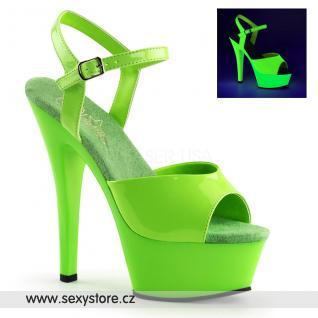 KISS209UV/NGN/M Zelené svítící sexy boty