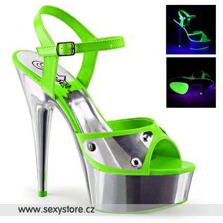 DELIGHT-609NC/NGN/SCH sexy boty na podpatku a platformě