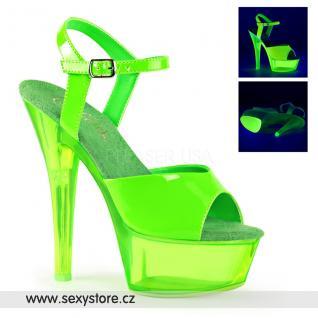 Zelené svítící sexy boty KISS209UVT/NGN/M