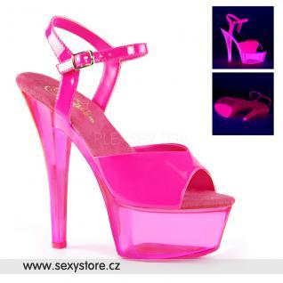 Růžové svítící sexy boty KISS209UVT/NHP/M