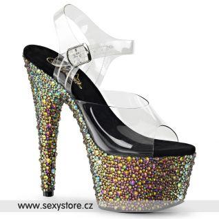 Luxusní sexy boty na vysokém podpatku a platformě BEJEWELED-708MS BEJ708MS/C/GNRS