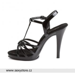 černé sexy sandálky FLAIR-420/B/M