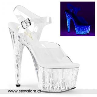 ADORE-708UVL/C/C-NW průhledné sexy svítící boty