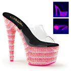 BEJEWELED-701UV/C/NMCHP svítící sexy růžové pantofle