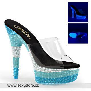 Modré svítící pantofle DELIGHT-601UVS/C/NMCBL