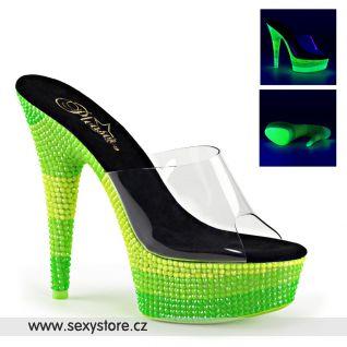 Zelené svítící pantofle DELIGHT-601UVS/C/NMCGN