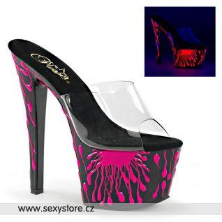 Svítící sexy pantofle SKY301-5/C/B-NHP