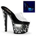 SKY301-5/C/B-NW sexy černobílé svítící pantofle