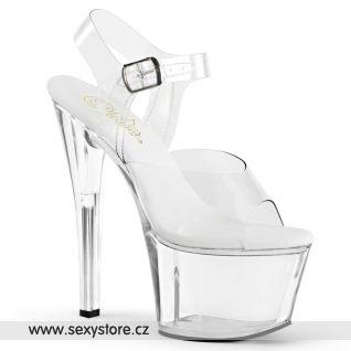 Průhledné sexy boty SKY308VL/C/M