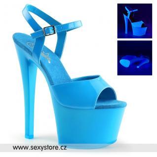 SKY309UV/NBL/M modré svítící sexy boty