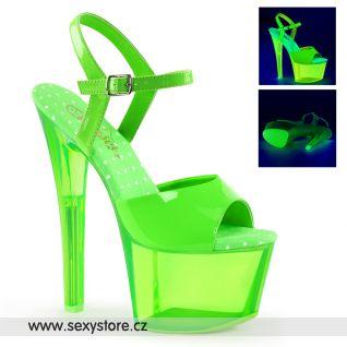 Zelené svítící sexy boty SKY309UVT/NGN/GNT