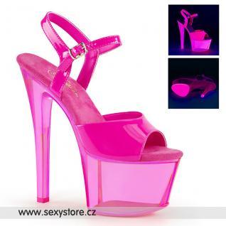 Růžové svítící sexy boty SKY309UVT/NHP/HPT