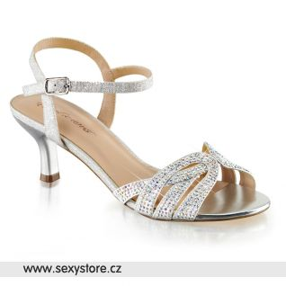 Stříbrné sandály AUDREY-03/SFA
