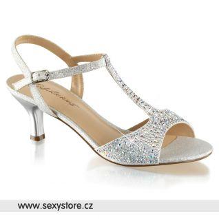 Stříbrné sandály AUDREY-05/SFA
