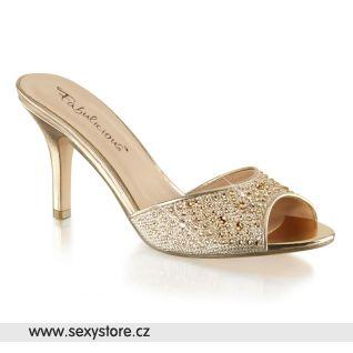 Zlaté pantofle LUCY01/GGFA