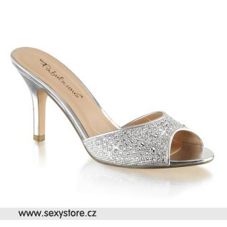 Stříbrné pantofle LUCY01/SGFA