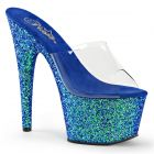 Luxusní modré pantofle ADORE-701LG/C/BLG