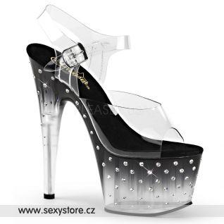 Sexy černé boty STARDUST-708T/C/B-C