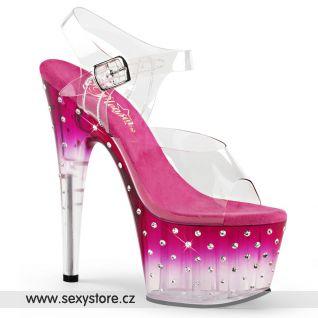 Sexy růžové boty STARDUST-708T/C/PNK-C