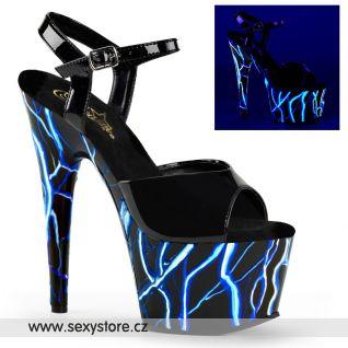 ADORE-709NLB/B/B-NBL sexy boty s modrými blesky