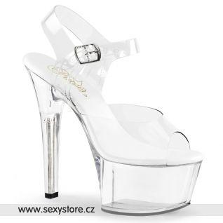 Průhledné strip sexy boty ASPIRE-608/C/M
