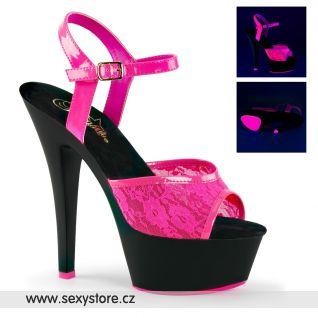 KISS209ML/NHP/B růžové svítící sexy boty