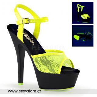KISS209ML/NYL/B žluté svítící sexy boty