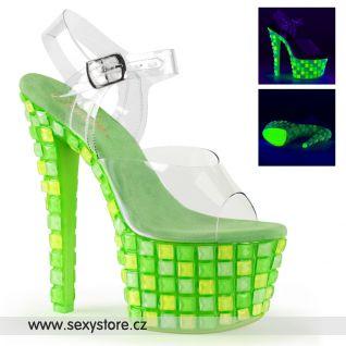 Luxusní zelené svítící boty  SKY308UVTL/C/NGN