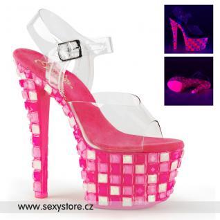 Luxusní růžové svítící boty SKY308UVTL/C/NHP