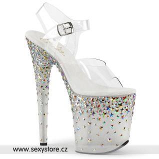 Luxusní boty na extra vysokém podpatku a platformě STPLASH808/C/FT