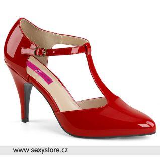 Červené retro lodičky DREAM-425 DRE425/R