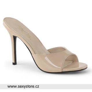 CLAS01/ND tělové pantofle na hubeném jehlovém podpatku