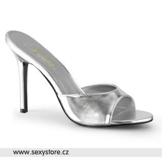 Stříbrné pantofle CLASSIQUE-01 CLAS01/SMPU