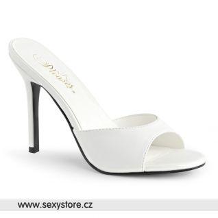 Bílé svatební pantofle na jehle CLASSIQUE-01 CLAS01/WPU