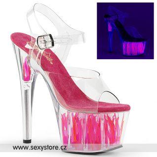 Růžové svítící sexy boty ADORE-708FLM ADO708FLM/C/C-HP