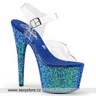 Sexy modré sandály na podpatku ADORE-708LG ADO708LG/C/BLG