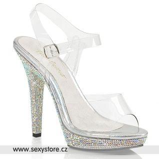 Luxusní sandály na podpatku LIP108DM/C/SMCRS