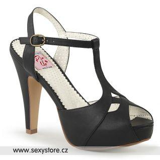 Páskové černé sandály BETTIE-23 BETT23/BPU