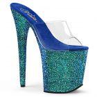 Modré pantofle na extra vysokém podpatku FLAMINGO-801LG FLAM801LG/C/BLG