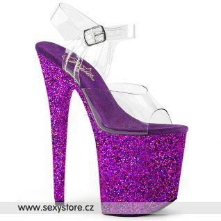 Fialové sandály na extra vysokém podpatku FLAMINGO-808LG/C/PPG
