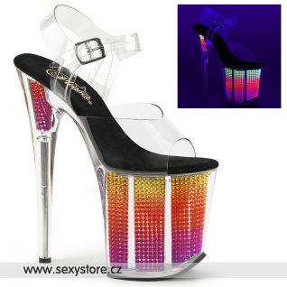 Svítící extra vysoké sexy boty FLAMINGO-808SRS FLAM808SRS/C/NMC
