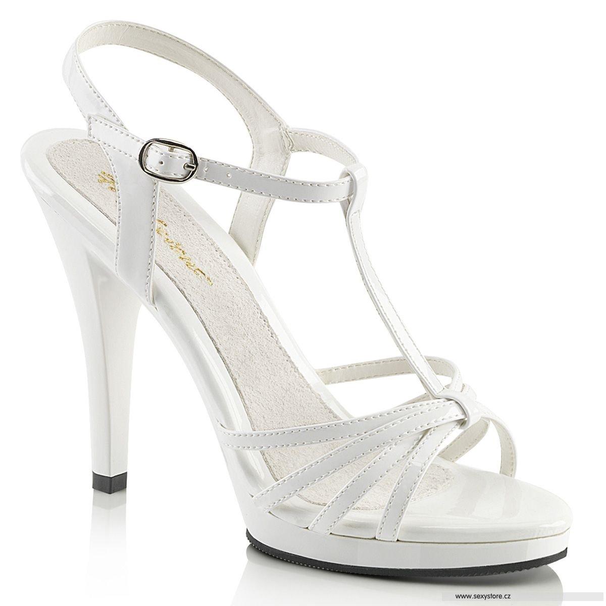 Bílé svatební sandály FLAIR-420 FLA420 W M  33abd04ee6
