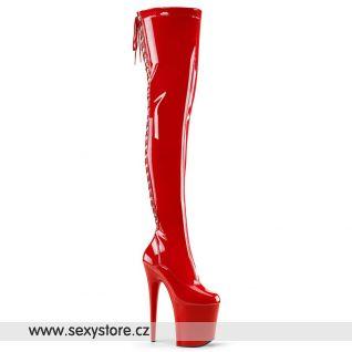 Červené sexy kozačky FLAMINGO-3063 FLAM3063/R/M