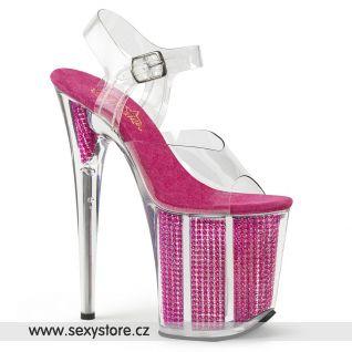 Extra vysoké podpatky růžové sandály FLAMINGO-808SRS FLAM808SRS/C/FS