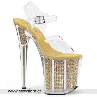 Extra vysoké podpatky zlaté sandály FLAMINGO-808SRS FLAM808SRS/C/G