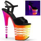 Svítící sexy sandály FLAMINGO-809UVLN FLAM809UVLN/B/N-UVLN