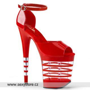 Červené sexy sandály FLAM889LN/R/M